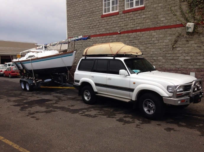 Boat and Land Cruiser both look ready to cruise.   (image credit: Sten van Aardt)