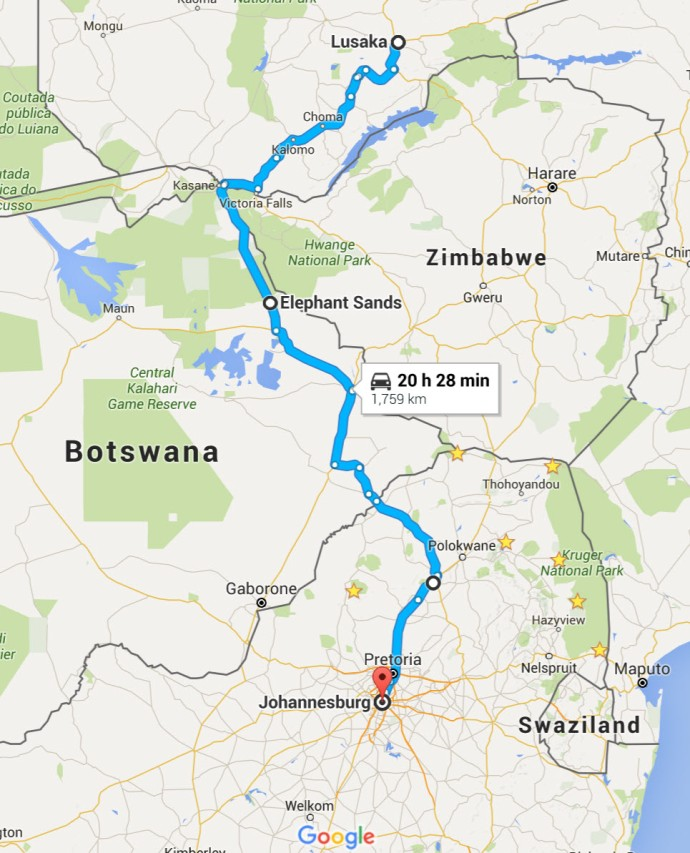 map to jhb
